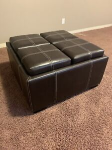 Ottoman With Built In Stools & Serving Trays