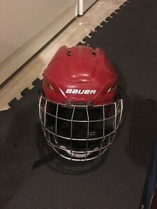 Bauer 2100 hockey helmet size large and medium