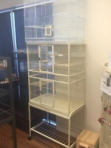 Brand NEW bird cage 3 Lvl & trolley, view assembled display; rat cage Meadowbrook Logan Area Preview