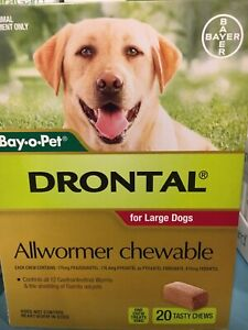 Drontal Allwormer Chews 20pack cheap