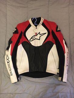 Alpinestars Jaws Perforated Motorcycle Leather Jacket size 40US/50EU