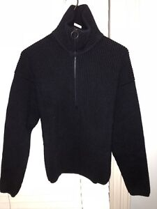 Acne Studios Neptune Wool-Blend Half-Zip Sweater (W17)