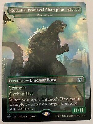 Godzilla, Primeval Champion (FOIL,Showcase) - Ikoria - MTG - Pack Fresh - NM/M