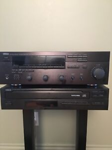 Yamaha stereo receiver, 5 disk cd player, PSB speakers
