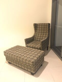 OzDesign Patterned Occasional Chair & Ottoman