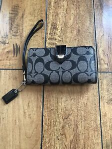 Coach Wallet/Phone Case with Carry Strap