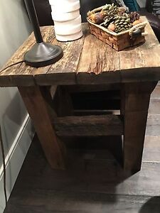 Solid reclaimed wood end tables