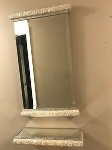 Wall Mirror and Shelf Set
