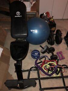 Assorted Gym Equipment