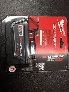 Milwaukee M18 red lithium XC 5.0 amp hour. Brand new.