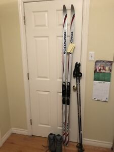Skis, poles, boots - BRAND NEW, NEVER USED