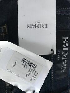 Authentic Balmain Jeans Biker Stretch T551-D204 Size 28