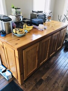 Solid Pine Kitchen Island / Storage