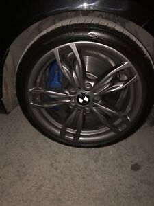 """BMW 18"""" M performance mags and tires NEW"""