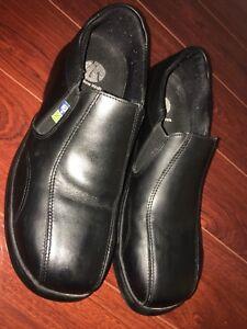 Black steel toe office shoes