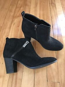 Black suede booties - by Mark Fisher