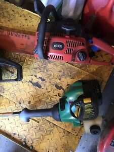 Chain saw et weed eater