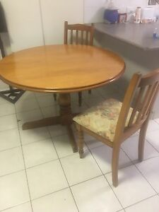 Solid timber and chairs Glenvale Toowoomba City Preview