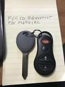 Dodge key fob and uncut key