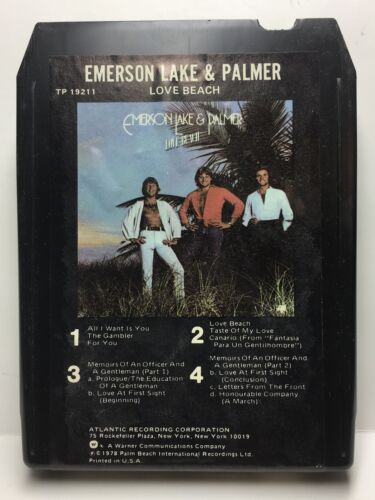Emerson Lake & Palmer - LOVE BEACH - 8 Track Tape