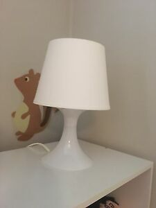 MOVING- Small White Lamp- Must Go ASAP