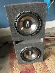 Clarion subs and Kicker amps