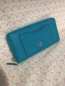 Teal Coach Wallet - Brand New with Tags