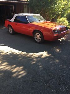 1983 Red Convertible Mustang