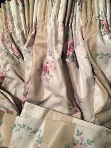 """Original Laura Ashley lined curtains - """"As New"""" East Melbourne Melbourne City Preview"""