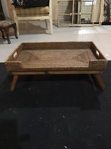 Wicker bed serving tray