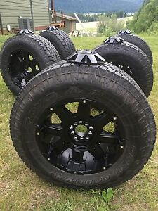 "18"" rims and tires, set of 5"