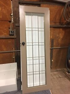 Old Solid wood door and glass