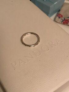Pandora eternity 925 silver ring size 6