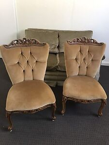 Two cute velvet chairs Rozelle Leichhardt Area Preview