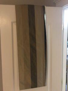 100% silk curtain and curtain Rod