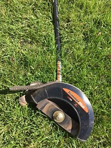 Troy built edger attachment gas powered trimmer