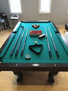 Brunswick Slate Pool Table with Table Tennis Top Conversion