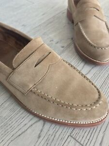 J Crew men's suede loafer EUC size 9