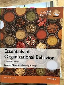 Essentials of Organizational Behavior, Robbins and Judge, 13th edition Mentone Kingston Area Preview