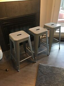 Modern Grey Counter-Height Stools