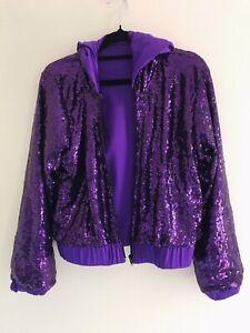 Purple sequin jacket (dance costume)