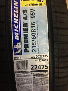 4 new Michelin Premier A/S 215/60R16