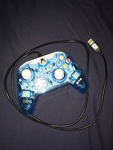 Clear Blue Wired Xbox One Controller!!