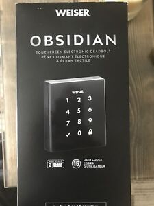 Weiser Obsidian Touchscreen Electronic Deadbolt - Iron Black