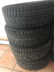 Set of 4 winter tires on rims
