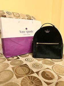 Brand New Kate Spade Velvet Small Backpack With Gift Bag