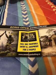 Paintball Coupon ($70 value valid through 2019)