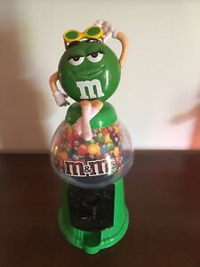 M&M's green candy dispenser.