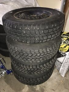 215/70/R15 Tires mounted on Steelies (NEGO)