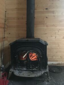 Nice small wood stove with glass